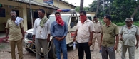 ठग के संदेह में ग्रामीणों ने चार की धुनाई कर पुलिस को सौंपा