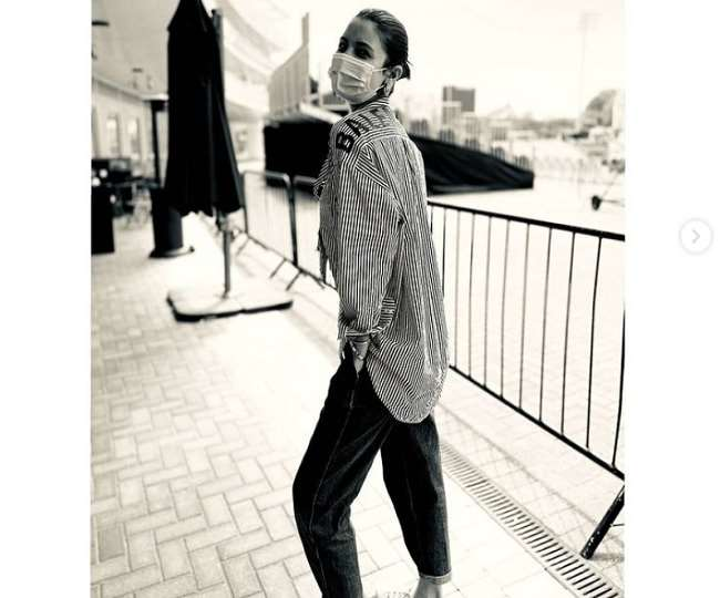 Anushka Sharma Balenciaga Striped Oversized Shirt worth will buy you a London Ticket