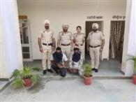 पुलिस देख भागे पांचवी पास दो तस्कर भाइयों से 25 ग्राम हेरोइन बरामद