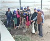 डमाड़ी गांव में चलाया स्वच्छता अभियान