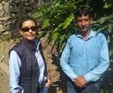 बॉलीवुड अभिनेत्री हीरा राज गोपाल पहुंची चकराता, प्रकृति की हुई कायल
