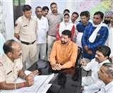 आप प्रदेशाध्यक्ष नवीन जयहिंद फरसा लेकर पहुंचे थाने, हुई बहस, जानिए पूरा मामला Panipat News