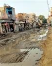 बारिश से ठाकर आबादी व सिद्धू नगरी में सड़क निर्माण पर लगी ब्रेक