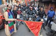 प्रभात फेरी, बाइक रैली से शांति की कामना