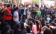 छात्र संघ अध्यक्ष की गिरफ्तारी पर बौखलाए प्रदर्शनकारी छात्रों ने माल रोड पर लगाया जाम