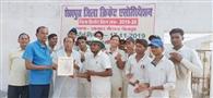 चेबड़ा में क्रिकेट लीग मैच आरंभ