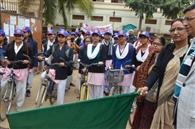 साइकिल रैली निकाल लोगों को स्वास्थ्य के प्रति किया जागरूक