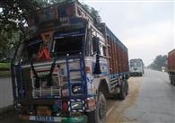 वाणिज्य कर का छापा, दो कोयला लदे ट्रकों पर हुई कार्रवाई