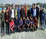 जम्मू कश्मीर की क्राॅस कंट्री टीम तेलंगाना रवाना हुई
