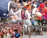 बलराज कुंडू समर्थकों के साथ गिरफ्तारी देने पहुंचे, थाने के सामने धरने पर बैठे, बना तनाव