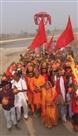 नवाह यज्ञ को निकली भव्य कलश शोभायात्रा