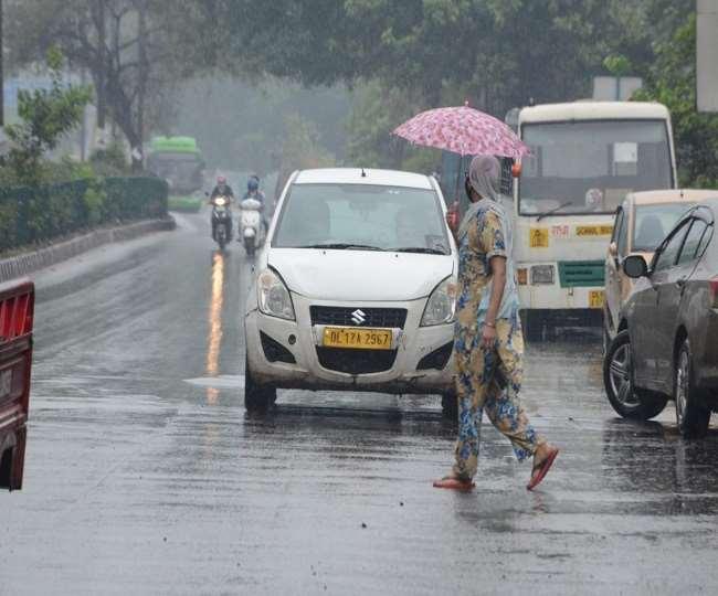 दिल्ली एनसीआर तक पहुंचा का असर, कई इलाकों में बारिश; आज के लिए ऑरेंज अलर्ट जारी