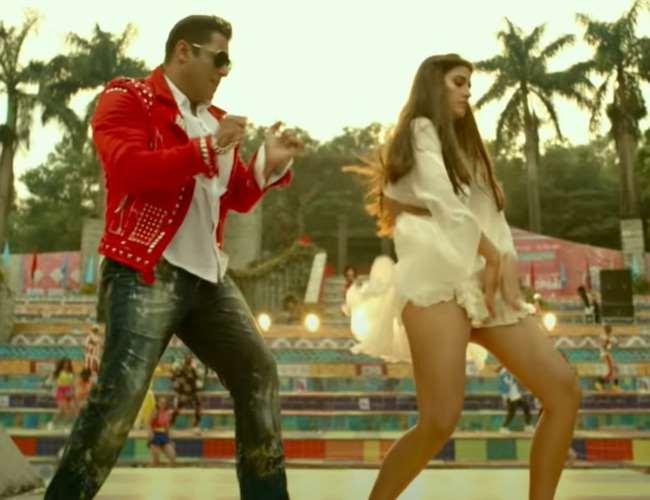 Salman Khan and Disha Patani in a song from Radhe. Photo- screenshot