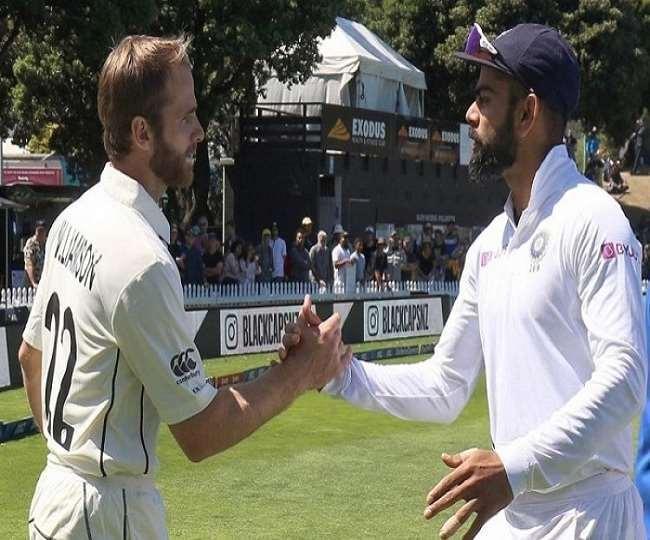 न्यूजीलैंड के कप्तान केन विलियमसन के साथ विराट कोहली