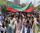 तालिबान के खिलाफ विरोध प्रदर्शन में देश का झंडा लहराने पर, उग्रवादियों ने की प्रदर्शनकारियों पर गोलीबारी