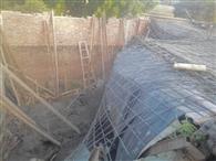 निर्माणाधीन मकान का लेंटर ढहा, दो मजदूर घायल