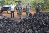 सारुबेड़ा जंगल से 15 टन कोयला जब्त