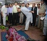 स्वास्थ्य मंत्री को उर्सला अस्पताल में फर्श पर तड़पता मिला मरीज, वार्ड में घूम रहे थे कुत्ते Kanpur News