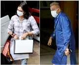 Sanjay Dutt Photos: प्रिया दत्त के साथ दिखे संजय दत्त, बहन के हाथ में थीं मेडिकल रिपोर्ट्स