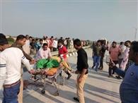 ईपीई पर ट्रक ने मां-बेटी को कुचला, मौत