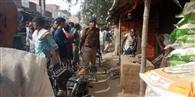 मननपुर में आरपीएफ ने चलाया अतिक्रमण हटाने का कार्यक्रम