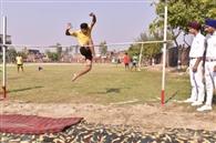 सचिन सिंह ने लगाई सबसे ऊंचीकूद