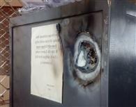 लूट के इरादे से बदमाशों ने पंजाब एंड सिध बैंक में गैस कटर से ताले काटे