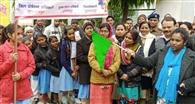 रैली निकाल छात्राओं ने दिया बेटी बचाओ-बेटी पढ़ाओ का संदेश