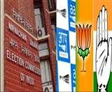 उम्मीदवारों के नामाकंन के बचे हैं सिर्फ दो दिन, भाजपा के सिर्फ एक कैंडिडेट ने अब तक दाखिल किया पर्चा