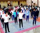 Fit India: मेहर चंद महाजन डीएवी कॉलेज में छात्राओं ने सीखी योगासन की बारिकियां