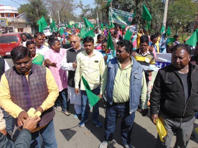 Image result for Jangal Zameen Adhikar Padyatra 2019