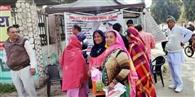 कैनोपी लगा पंपलेट्स बांट जिला नगर योजनाकार ने किया लोगों को जागरूक