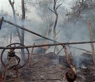 शार्ट शर्किट से लगी आग, दो घरों की गृहस्थी राख
