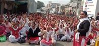 आंगनबाड़ी कार्यकर्ताओं ने सौंपा मांग पत्र