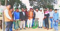 कुलदीप सिंह को गांव वासियों ने किया सम्मानित