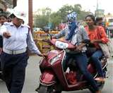 जब कटा 21 हजार का चालान, ट्रैफिक सिपाही का मुंह ताकते रह गया पुलिसवाला