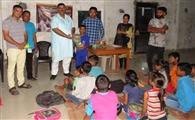 संगठन मंत्री ने जरूरतमंद बच्चों संग मनाया जन्मदिवस