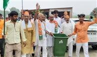 गांधी संकल्प यात्रा में स्वच्छता पर जोर