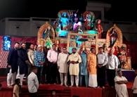 महामाई के जागरण में अमृतसर से आई टीम ने गाए भजन