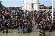 गमगीन माहौल में मनाया गया शहीदाने कर्बला का चेहल्लुम