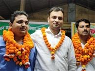 नागेंद्र जिलाध्यक्ष और बृजेंद्र सिंह मंत्री बने