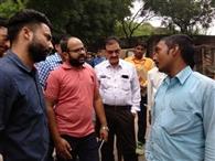 सूडा की टीम ने लोहियानगर में की प्रधानमंत्री आवास योजना की जांच