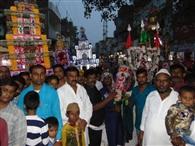 गमगीन माहौल में निकाला चेहल्लूम का जुलूस