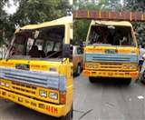 Lucknow Cantt Assembly By Election 2019: पोलिंग बूथ के लिए रवाना हो रही बस दुर्घटनाग्रस्त, दो सदस्य घायल Lucknow News