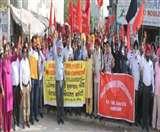 कर्मचारियों ने पंजाब सरकार के खिलाफ निकाला गुस्सा, मुल्लांपुर में निकाली रोष रैली Ludhiana News