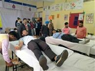 कैंप में 73 लोगों ने किया रक्तदान