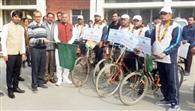 साइकिल यात्रा निकाल दिया जल बचाने का संदेश
