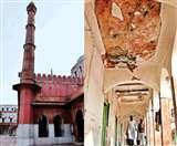 झुक रही है फतेहपुरी मस्जिद की मीनार, शाहजहां ने अपनी बेगम के नाम पर कराया था निर्माण