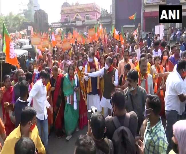 ओडिशा भाजपा ने भुवनेश्वर में प्रदर्शन किया और ओडिशा सरकार के खिलाफ एक 'पदयात्रा' शुरू की