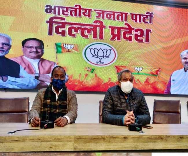 पार्टी पदाधिकारियों के साथ मीटिंग करते आदेश गुप्ताः सौ. दिल्ली भाजपा ट्वीटर
